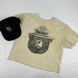 Smokey the Bear Womens Shirt/Hat Combo.